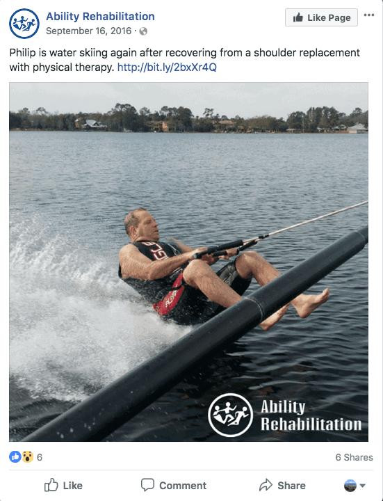 Water skiing patient testimonial